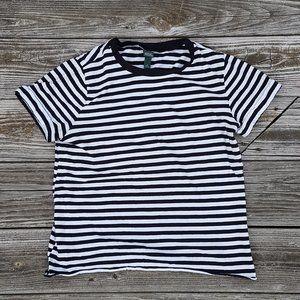 Wild Fable Striped T Shirt Medium Black White Punk